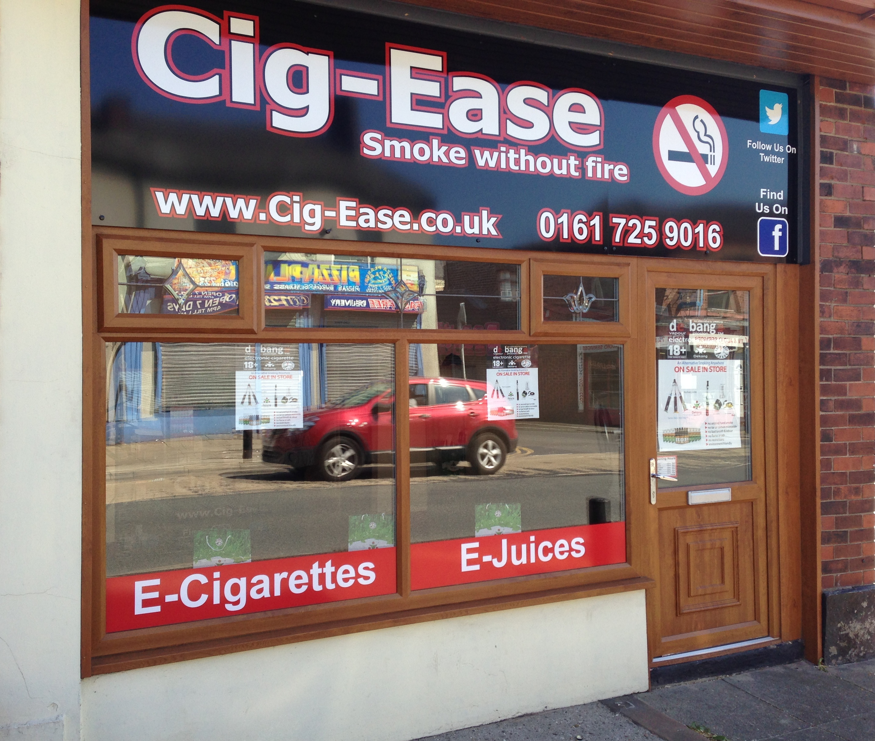 Cig Ease Shop Front, E-Cigs and E-Liquids